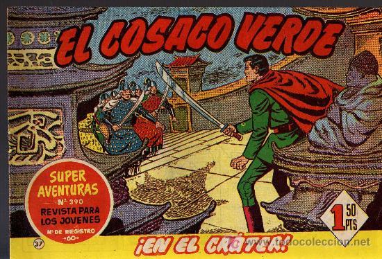 EL COSACO VERDE Nº 37 - MORA/COSTA - EDITORIAL BRUGUERA 1960/61 - ORIGINAL, NO FACSIMIL (Tebeos y Comics - Bruguera - Cosaco Verde)
