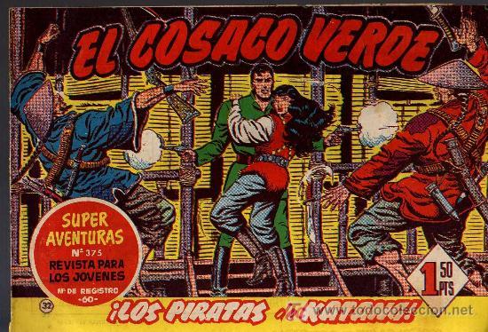 EL COSACO VERDE Nº 32 - MORA/COSTA - EDITORIAL BRUGUERA 1960/61 - ORIGINAL, NO FACSIMIL (Tebeos y Comics - Bruguera - Cosaco Verde)