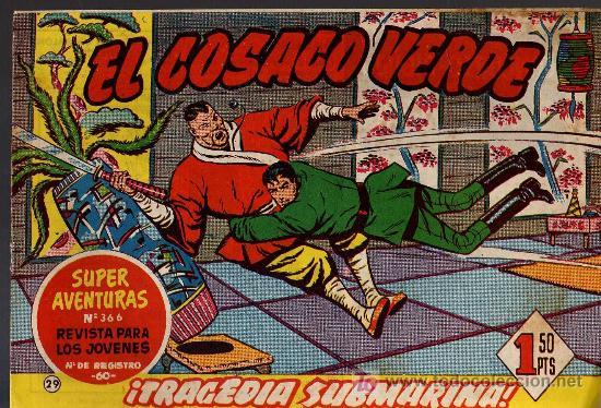 EL COSACO VERDE Nº 29 - MORA/COSTA - EDITORIAL BRUGUERA 1960/61 - ORIGINAL, NO FACSIMIL (Tebeos y Comics - Bruguera - Cosaco Verde)