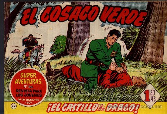 EL COSACO VERDE Nº 22 - MORA/COSTA - EDITORIAL BRUGUERA 1960/61 - ORIGINAL, NO FACSIMIL (Tebeos y Comics - Bruguera - Cosaco Verde)