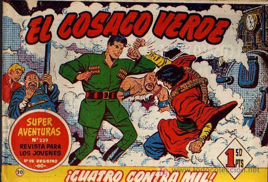 EL COSACO VERDE Nº 20 - MORA/COSTA - EDITORIAL BRUGUERA 1960/61 - ORIGINAL, NO FACSIMIL (Tebeos y Comics - Bruguera - Cosaco Verde)