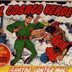 Tebeos: EL COSACO VERDE Nº 20 - MORA/COSTA - EDITORIAL BRUGUERA 1960/61 - ORIGINAL, NO FACSIMIL. Lote 11322490