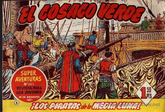 EL COSACO VERDE Nº 8 - MORA/COSTA - EDITORIAL BRUGUERA 1960/61 - ORIGINAL, NO FACSIMIL (Tebeos y Comics - Bruguera - Cosaco Verde)