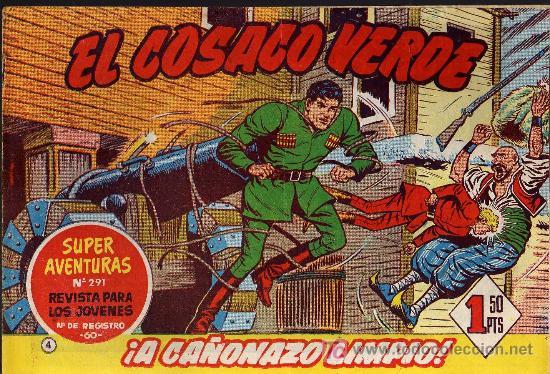 EL COSACO VERDE Nº 4 - MORA/COSTA - EDITORIAL BRUGUERA 1960/61 - ORIGINAL, NO FACSIMIL (Tebeos y Comics - Bruguera - Cosaco Verde)