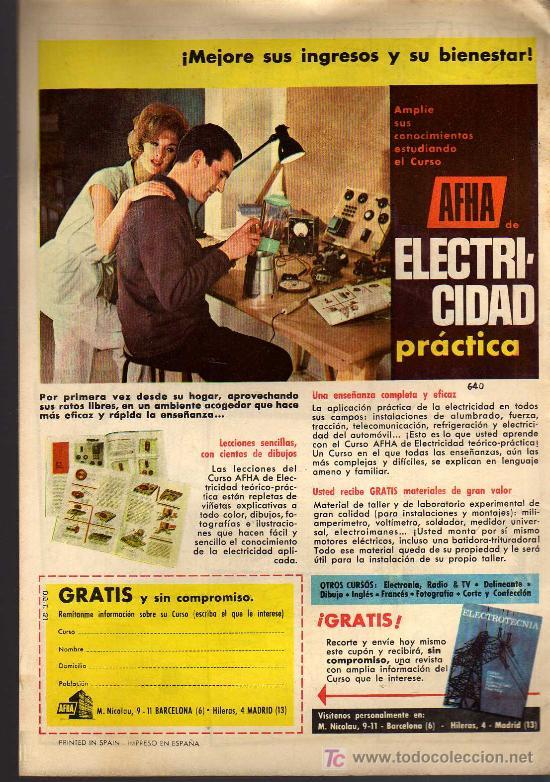 Tebeos: EL DDT - Nº 640 - ANO XIII - EDITORIAL BRUGUERA - - 1963 - ORIGINAL, NO FACSIMIL - Foto 2 - 11320553