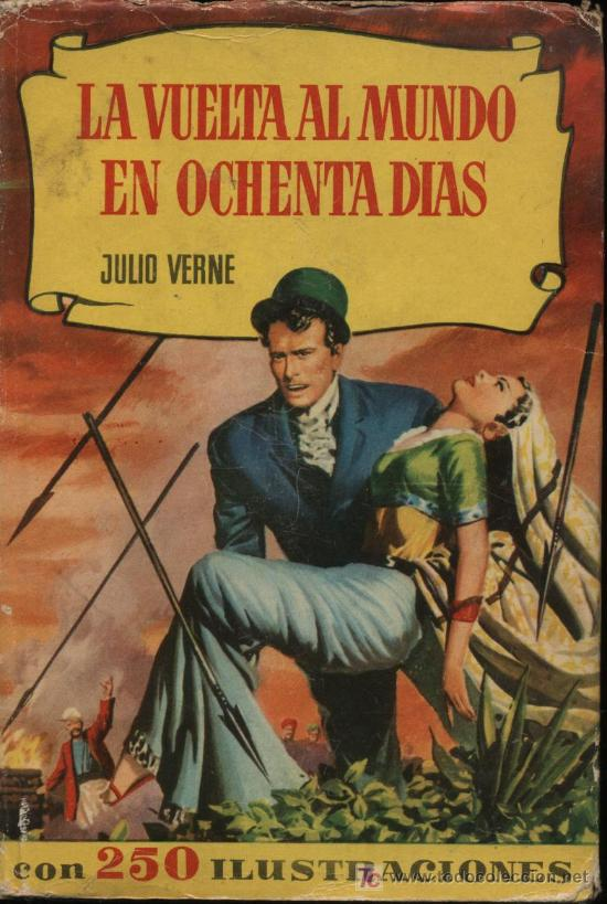 LA VUELTA AL MUNDO EN OCHENTA DÍAS. JULIO VERNE. COLECCIÓN HISTORIAS.1ª EDICIÓN. BRUGUERA 1957 (Tebeos y Comics - Bruguera - Otros)