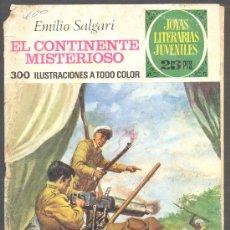 Tebeos: JOYAS LITERARIAS JUVENILES EMILIO SALGARI EL CONTINENTE MISTERIOSO. Lote 12585271