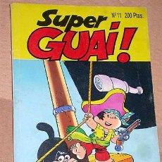 Tebeos: SUPER GUAI Nº 11. EDICIONES B, 1991. PULGARCITO DE JAN, TETE COHETE DE IBÁÑEZ, ROBIN ROBOT Y MÁS +++. Lote 24383251
