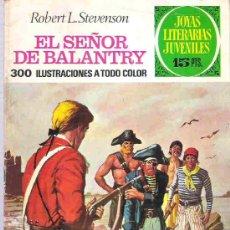 Tebeos: JOYAS LITERARIAS JUVENILES - EL SEÑOR DE BALANTRY Nº 20 BRUGUERA 1972. Lote 14698375