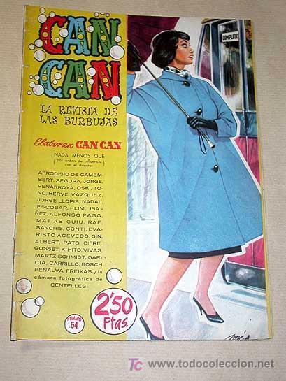 CAN CAN Nº 54. PEÑARROYA, GIN, SANCHIS, SEGURA, NADAL, IBÁÑEZ, CONTI, VÁZQUEZ. MARINA VLADY BRUGUERA (Tebeos y Comics - Bruguera - Otros)