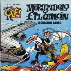 Tebeos: MORTADELO Y FILEMON. SECUESTRO AEREO. 1996. Nº 41.. Lote 27279770