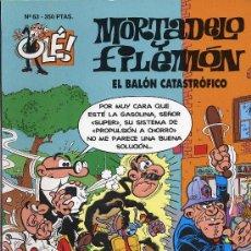 Tebeos: MORTADELO Y FILEMON. EL BALON CATASTROFICO. 1994. Nº 63. PRIMERA EDICION. Lote 27279771