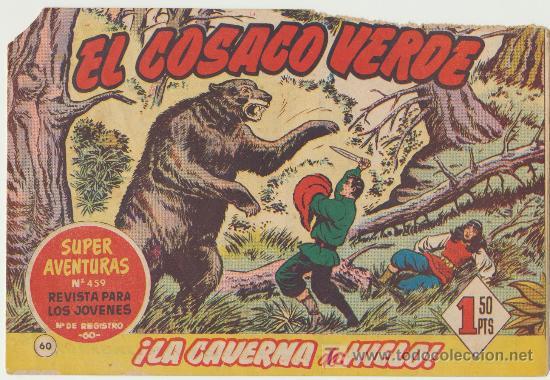 EL COSACO VERDE Nº 60. (Tebeos y Comics - Bruguera - Cosaco Verde)