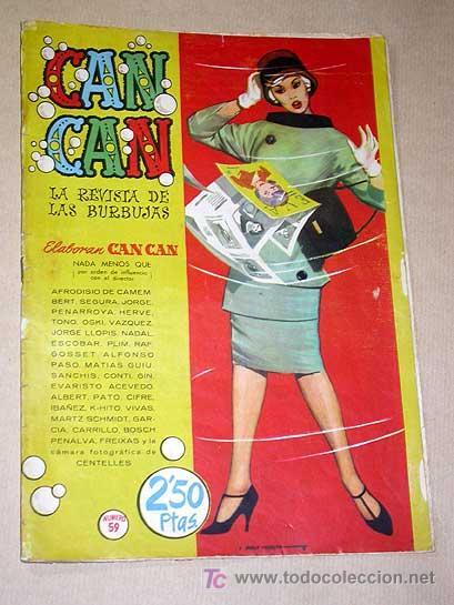 CAN CAN Nº 59. PEÑARROYA, CIFRÉ, SEGURA, NADAL, IBÁÑEZ, CONTI, VÁZQUEZ. ROMY SCHNEIDER. BRUGUERA (Tebeos y Comics - Bruguera - Otros)