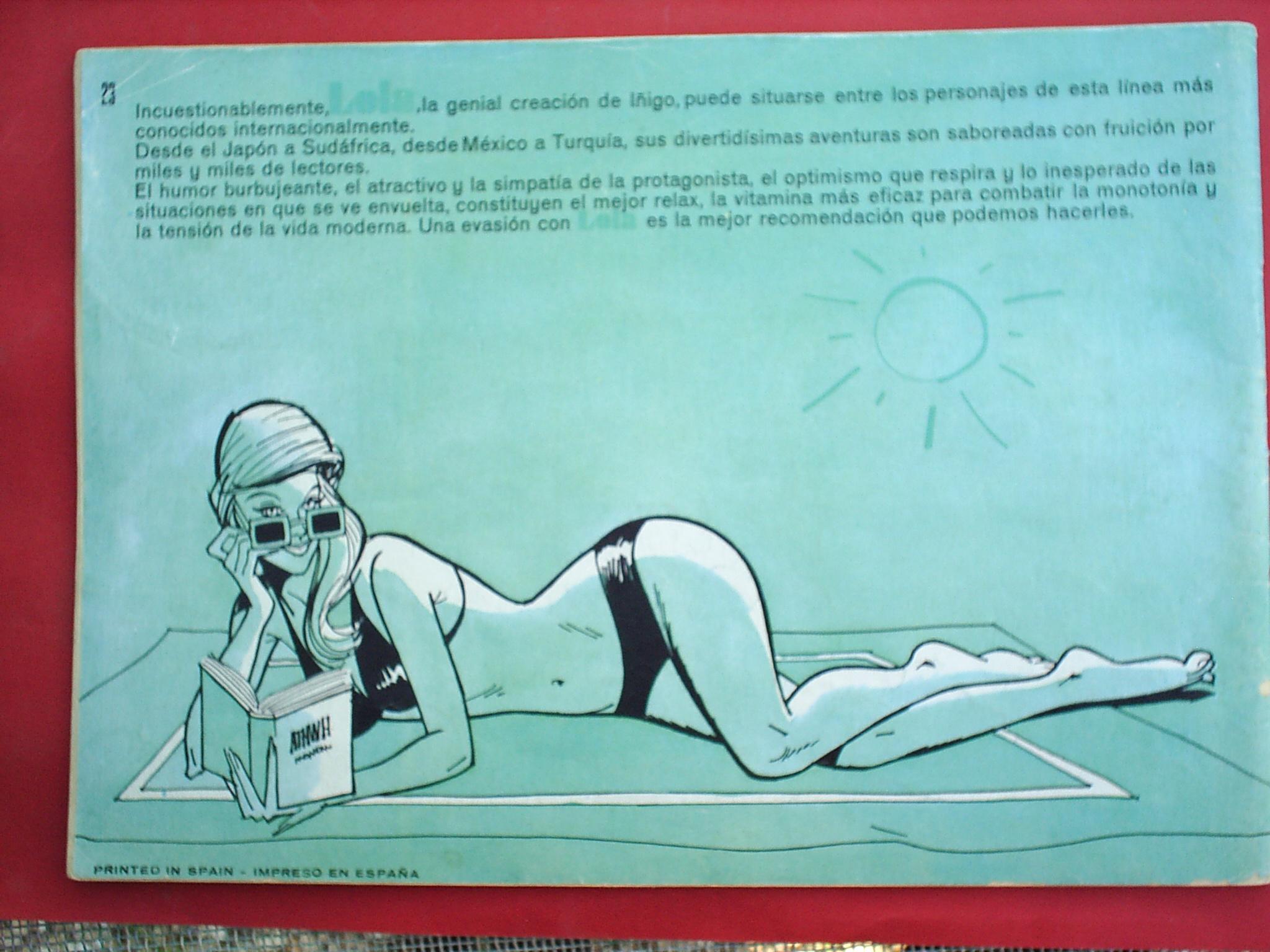 Tebeos: 120 TIRAS CON LOLA ,N.23 - 1976 - EDITORIAL BRUGUERA - Foto 2 - 24991351
