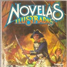 Tebeos: NOVELAS ILUSTRADAS – TRAFALGAR – AVENTURAS DE SHERLOCK HOLMES I Y II – ESTUDIO EN ESCARLATA. Lote 24269675