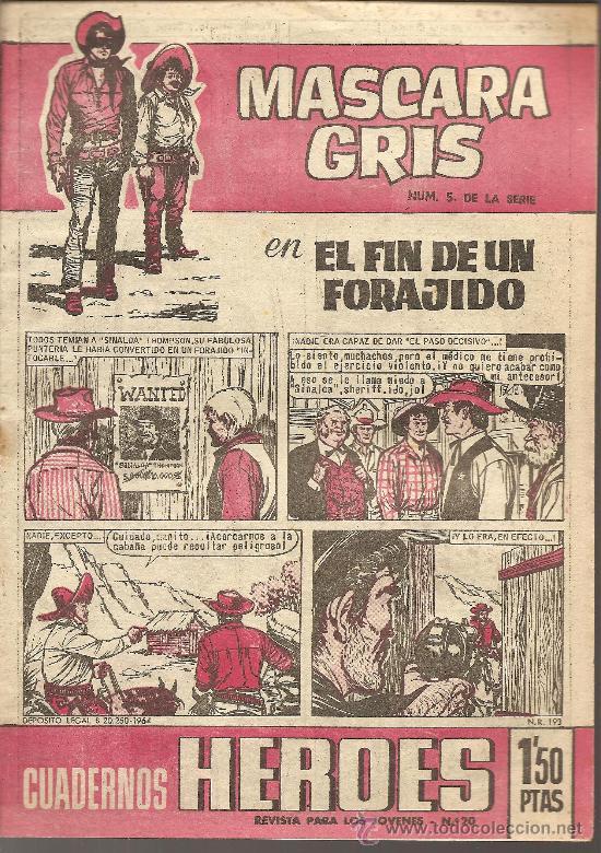 MASCARA GRIS Nº 5 CUADERNOS HEROES EDITORIAL BRUGUERA (Tebeos y Comics - Bruguera - Cuadernillos Varios)