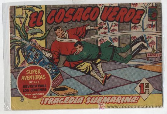 EL COSACO VERDE Nº 29. BRUGUERA 1960. (Tebeos y Comics - Bruguera - Cosaco Verde)