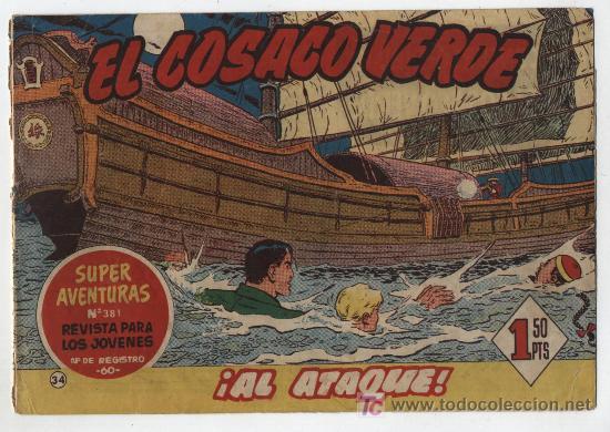 EL COSACO VERDE Nº 34. BRUGUERA 1960. (Tebeos y Comics - Bruguera - Cosaco Verde)
