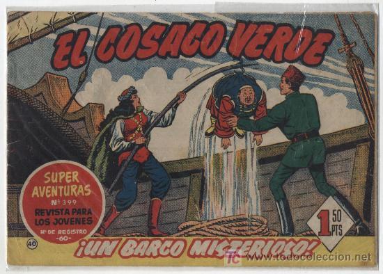 EL COSACO VERDE Nº 40. BRUGUERA 1960. (Tebeos y Comics - Bruguera - Cosaco Verde)
