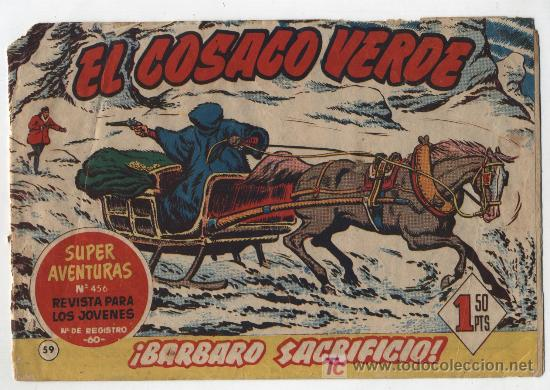EL COSACO VERDE Nº 59. BRUGUERA 1960. (Tebeos y Comics - Bruguera - Cosaco Verde)