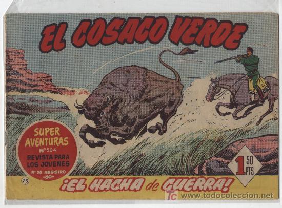 EL COSACO VERDE Nº 75. BRUGUERA 1960. (Tebeos y Comics - Bruguera - Cosaco Verde)