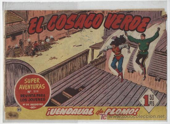 EL COSACO VERDE Nº 80. BRUGUERA 1960. (Tebeos y Comics - Bruguera - Cosaco Verde)
