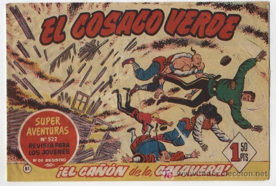 EL COSACO VERDE Nº 81. BRUGUERA 1960. (Tebeos y Comics - Bruguera - Cosaco Verde)