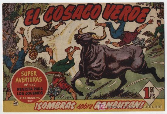 EL COSACO VERDE Nº 47. BRUGUERA 1960. (Tebeos y Comics - Bruguera - Cosaco Verde)