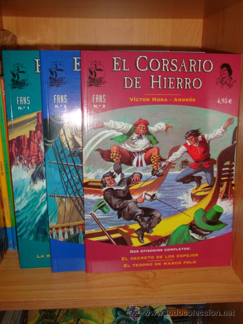 CORSARIO DE HIERRO. LOTE NÚMEROS FANS 1-2-3. VÍCTOR MORA Y AMBRÓS. EDICIONES B (Tebeos y Comics - Bruguera - Corsario de Hierro)