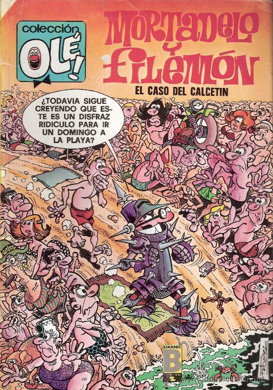 MORTADELO Y FILEMÓN .EL CASO DEL CALCETÍN. COLECCIÓN OLÉ Nº 128 - M. 80. 1ª EDICIÓN. AGOSTO 1988 (Tebeos y Comics - Bruguera - Ole)