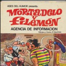 Tebeos: ASES DEL HUMOR Nº 8. MORTADELO Y FILEMÓN. AGENCIA DE INFORMACIÓN. 1979. Lote 18898011