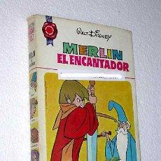 Tebeos: MERLIN EL ENCANTADOR. WALT DISNEY. COLECCIÓN HOGAR FELIZ Nº 10. BRUGUERA 1973. ARTURO, EXCALIBUR.. Lote 24971435