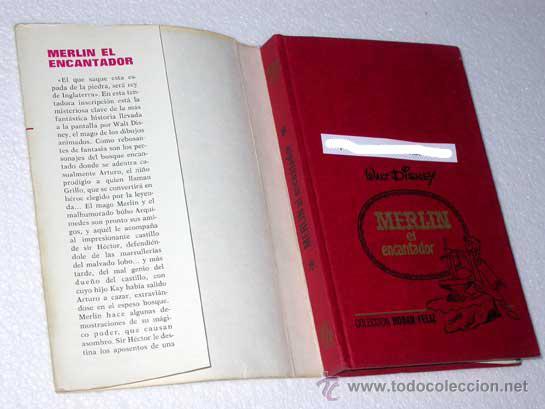 Tebeos: MERLIN EL ENCANTADOR. WALT DISNEY. COLECCIÓN HOGAR FELIZ Nº 10. BRUGUERA 1973. ARTURO, EXCALIBUR. - Foto 2 - 24971435