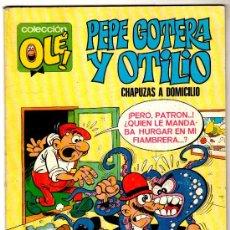 Tebeos: OLÉ Nº 1, PEPE GOTERA Y OTILIO, BRUGUERA 1982, VER CONTRAPORTADA. Lote 23624131