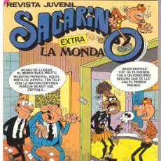 Tebeos: COMIC SACARINO EXTRA LA MONDA Nº 78 DE BRUGUERA NUEVO 1985 CON ADHESIVOS. Lote 257453385