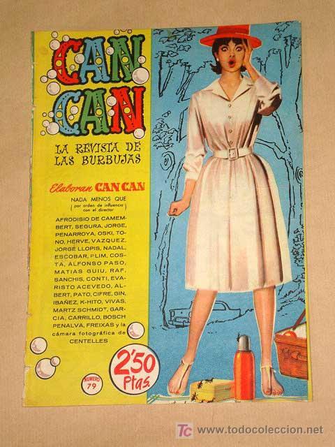 CAN CAN Nº 79. PEÑARROYA, IBÁÑEZ, SEGURA, JORGE, GIN, PURITA CAMPOS, NADAL. JEANNE CRAIN. BRUGUERA. (Tebeos y Comics - Bruguera - Otros)