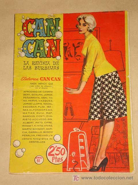 CAN CAN Nº 52. PEÑARROYA, IBÁÑEZ, SEGURA, GIN, SANCHIS, JORGE, ESCOBAR, NADAL. RUTH ROMAN. BRUGUERA (Tebeos y Comics - Bruguera - Otros)