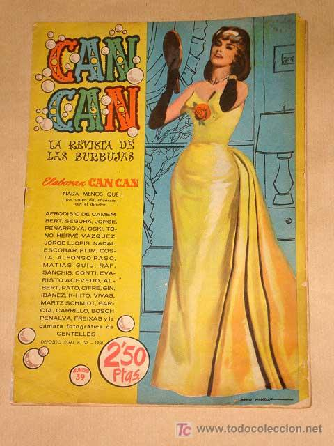 CAN CAN Nº 39. PEÑARROYA, IBÁÑEZ, SEGURA, GIN, SANCHIS, JULIO VIVAS, NADAL. DOROTHY MALONE. BRUGUERA (Tebeos y Comics - Bruguera - Otros)