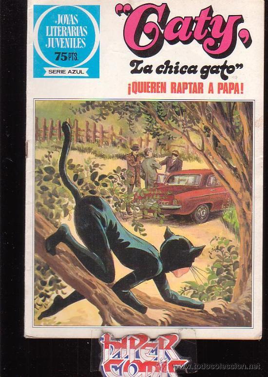 JOYAS LITERARIAS JUVENILES SERIE AZUL Nº 89 , GATY , LA CHICA GATO (Tebeos y Comics - Bruguera - Joyas Literarias)