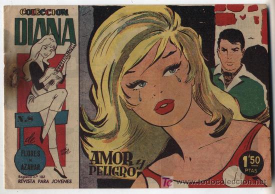 COLECCIÓN DIANA DE FLORES DE AZAHAR. Nº 8. CREO 1960. SIN ABRIR (Tebeos y Comics - Bruguera - Din Dan)