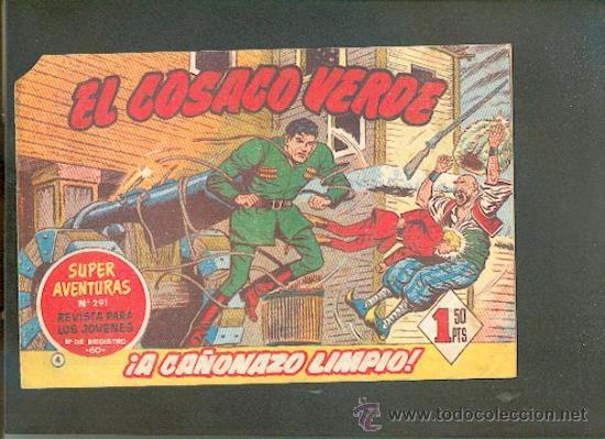 EL COSACO VERDE Nº 4,EDITORIAL BRUGUERA (Tebeos y Comics - Bruguera - Cosaco Verde)