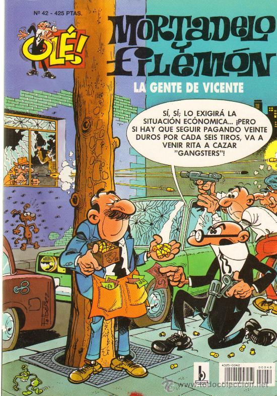 TEBEOS-COMICS GOYO - MORTADELO Y FILEMON - LA GENTE DE VICENTE 42 -1ª EDIC *AA99 (Tebeos y Comics - Bruguera - Mortadelo)