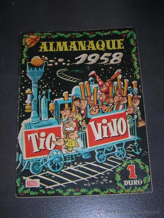 (M-10) TIO VIVO - ALAMANAQUE 1958 - EDT BRUGUERA , POCAS SEÑALES DE USO (Tebeos y Comics - Bruguera - Tio Vivo)