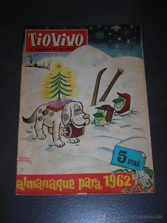 (M-10) TIO VIVO - ALAMANAQUE 1962 - EDT BRUGUERA , LOMO CON ROTURITAS (Tebeos y Comics - Bruguera - Tio Vivo)