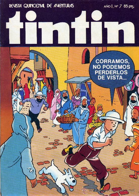 TINTÍN Nº7 (CAPI´TAN SABLE, UMPAH-PAH,MARGARET MITCHELL, LECCIONES DEL PEQUEÑO PROFESOR... (Tebeos y Comics - Bruguera - Otros)
