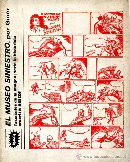INSPECTOR DAN - EL MUSEO SINIESTRO, POR GINER - MARTÍN EDITOR 1974 (Tebeos y Comics - Bruguera - Inspector Dan)