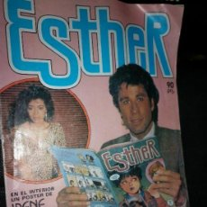 Tebeos: ESTHER: JOHN TRAVOLTA, ENTREVISTA Y POSTER DE IRENE CARA, 1984. Lote 22964438