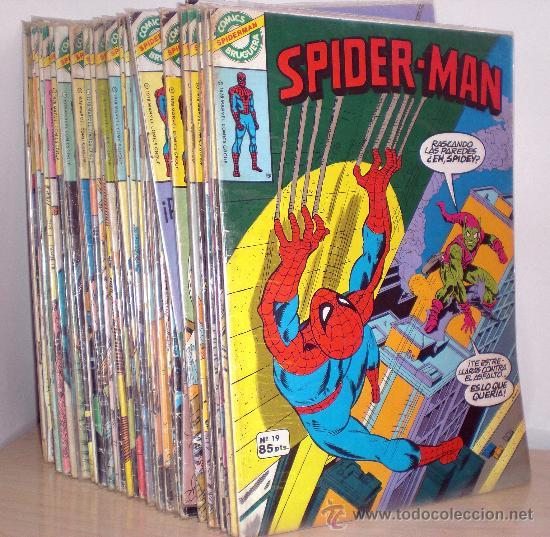 LOTE DE 48 COMICS SPIDERMAN EDITORIAL BRUGUERA (Tebeos y Comics - Bruguera - Otros)