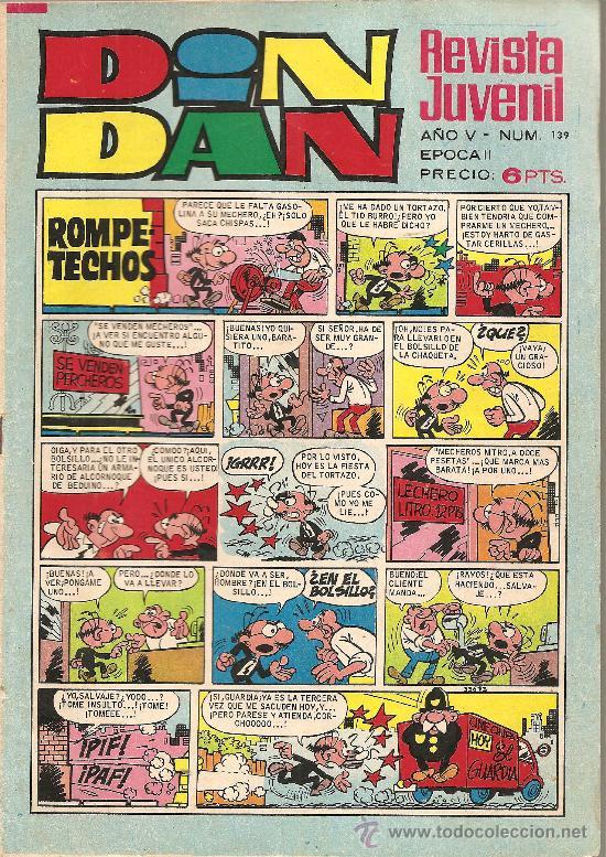 DIN DAN Nº 141 CON EL DEMONIO DEL CARIBE (Tebeos y Comics - Bruguera - Din Dan)